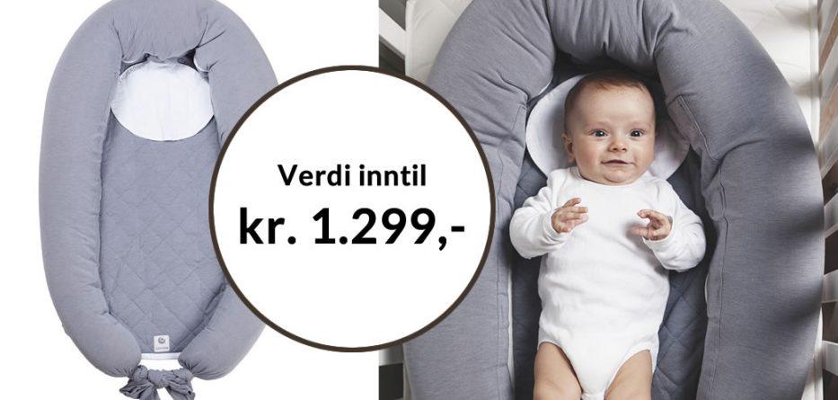 Få Babynest /Multipute Mum & Me pluss en valgfri bok for kun kr 249,-