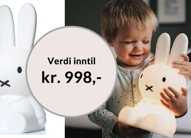 Få den populære Miffy lampen til barnerommet gratis