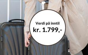 Få koffertsett 2 stk sort som velkomstgave fra Bokklubben Nye Bøker